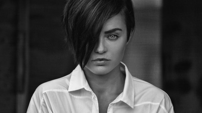 division by PoloD - Black And White Female Portraits Photo Contest