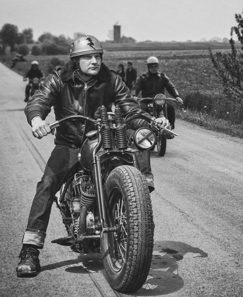 retro Biker by Mougaard - A Road Trip Photo Contest
