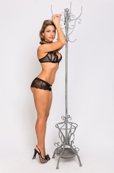 Pinup with a Hatrack