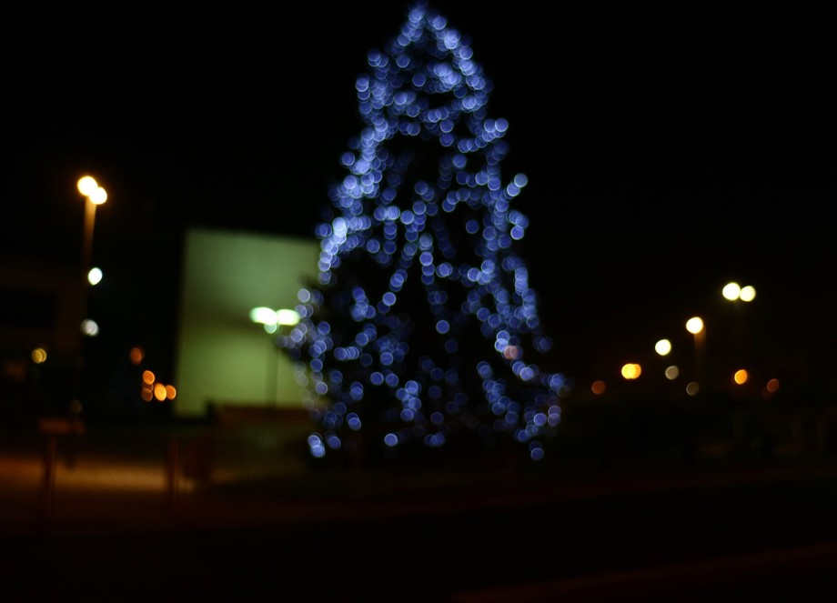 I was out quite late at night. The air was cold and there was a real feel of winter. Of Christmas...