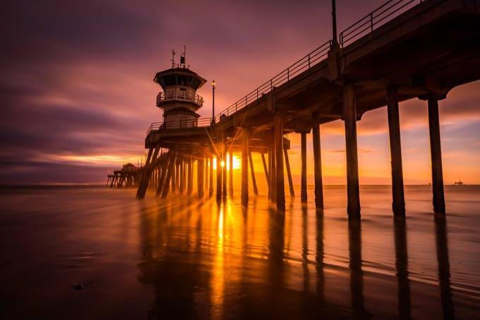 Huntington Beach Pier by Rinkrat - The View Under The Pier Photo Contest