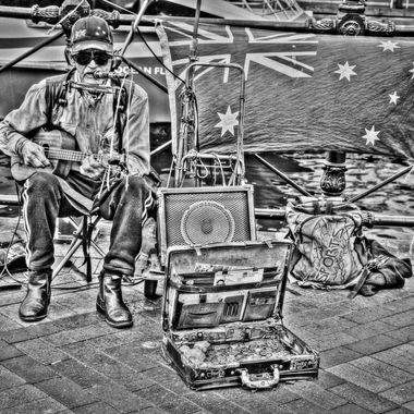 The Guitar Man - Circular Quay, Sydney