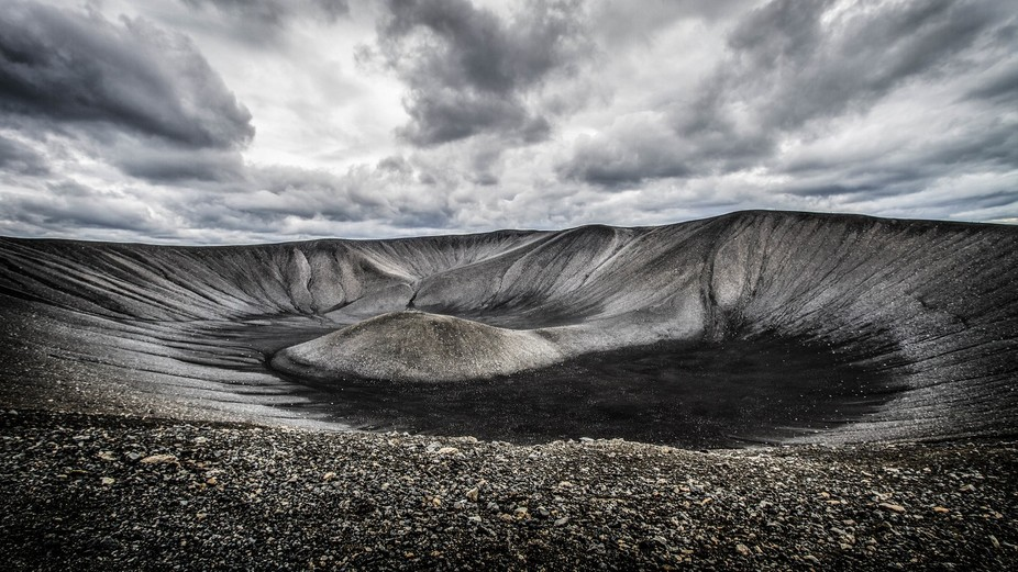 Hverfjall crater Iceland.