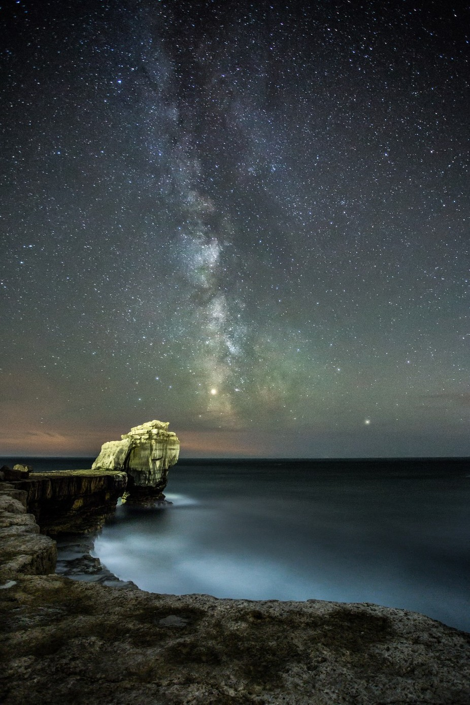 Milky way over Pulpit Rock by dominicbeaven - Night Wonders Photo Contest