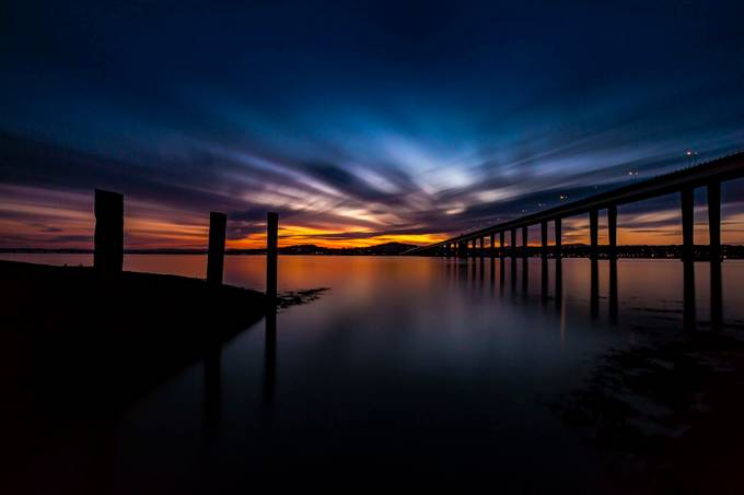 Jetty and the bridge re edit december 16 by MarkGillespiePhotography - Night Wonders Photo Contest