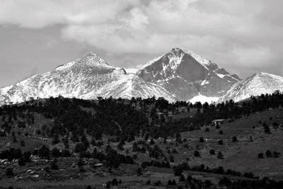 Long's Peak B&W
