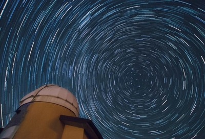 First star trail