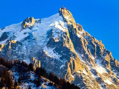 Aiguille Du Midi from Chamonix Valley