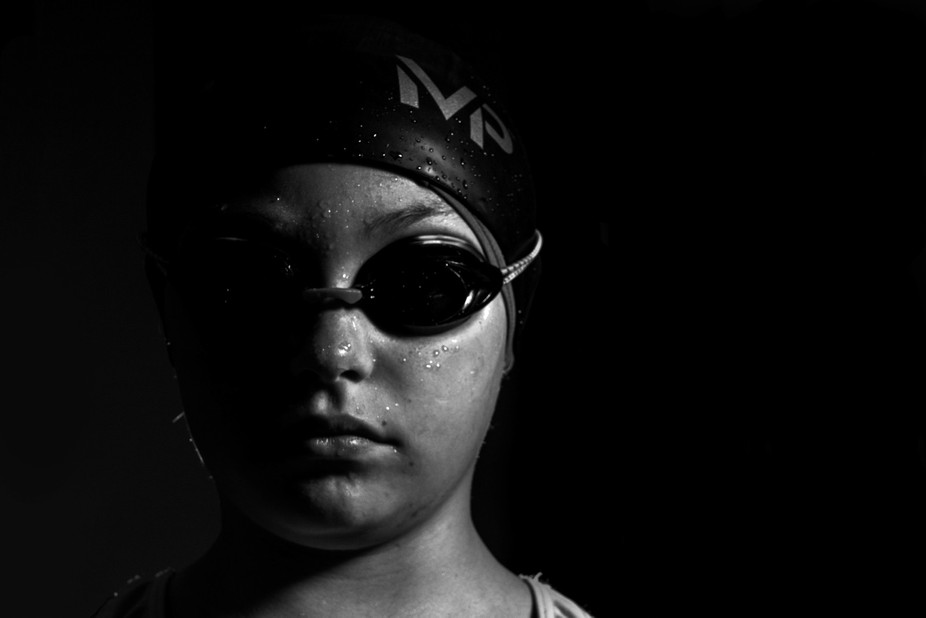 This is a shot of my daughter after a swim meet.