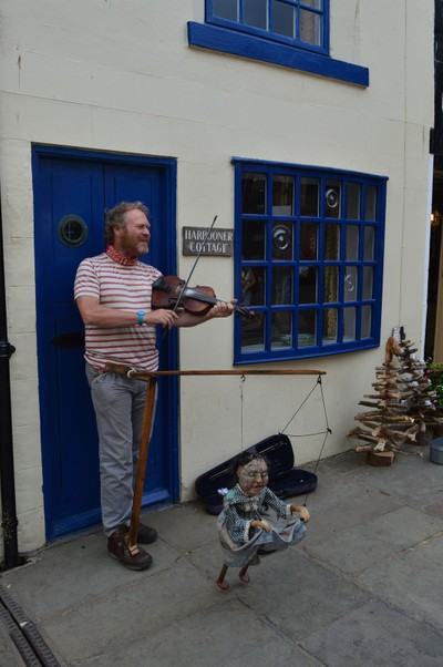 Whitby Fiddle Player And Puppeteer, August, 2015