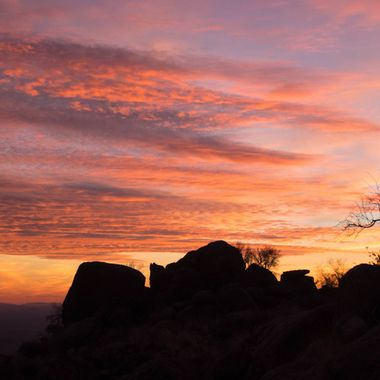 Sunset at Weaver Mtn's near Yarnell, AZ.