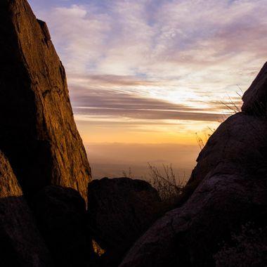 Sunset at Weaver Mtns near Yarnell, AZ.