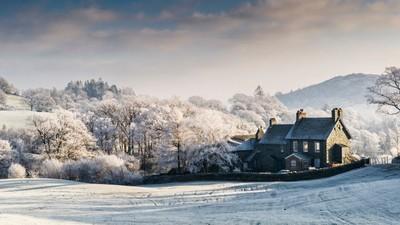 Hoar frost in Little Langdale, Cumbria, England