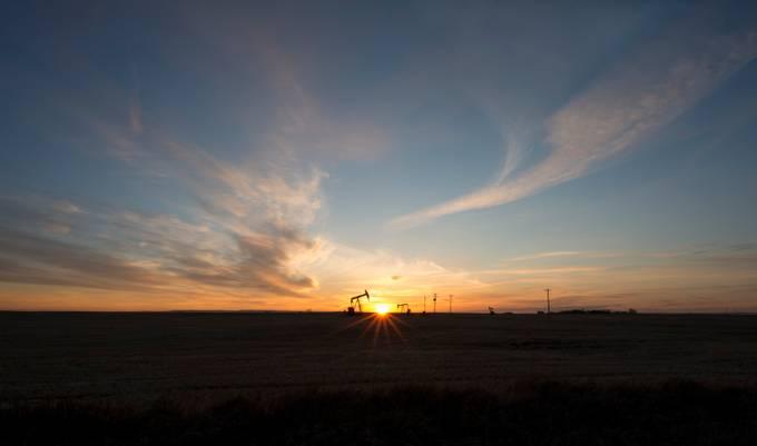 OilJack-Sunrise AB by raeannbonneville - The First Light Photo Contest