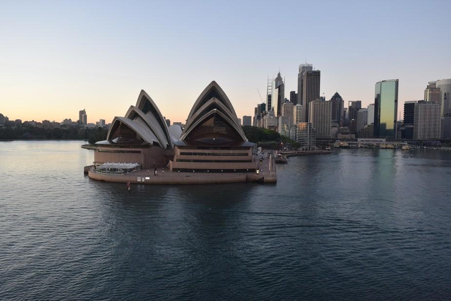 Sailing past the Opera House