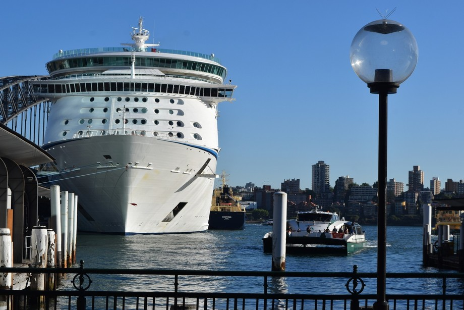 Ship in Sydney harbour