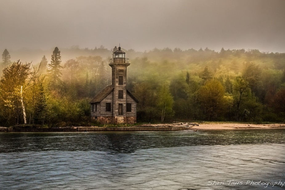 Lighthouse on Lake Superior in Michigan.