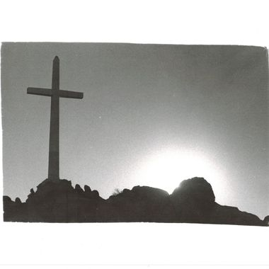 Atop Mount Rubidoux in Riverside, CA there resides two things, a huge 30 foot cross, and an American Flag. This is a picture of the cross with the sun just peeking over the top of the mountain near sunset.  Many of my photos are for sale, please click over to my photography store and take a peek. I have something for just about anyone who loves nature.