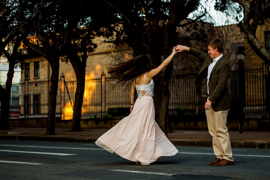 Dancing through the streets of central Bloemfontein