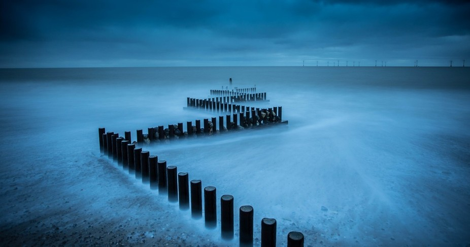 Been wanting to photograph these old groynes in Caister on sea (Norfolk, UK) for a while now. Las...