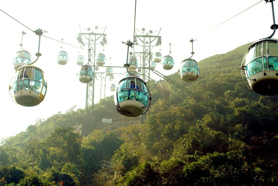Ocean Park in Hong Kong is a large oceanarium and amusement park with two distinct areas separate...