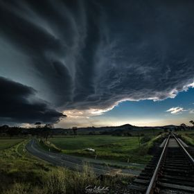 Supercell storm begins to consume the daylight. Queensland Australia