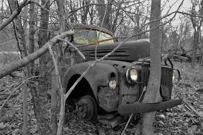 abandoned 1940's-50's truck...