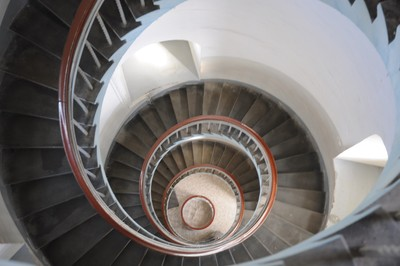 stairs of lyngvig fyr lighthouse