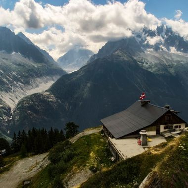 Looking across to Montenvers and the Mer de Glace from Flegere