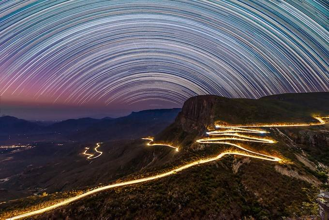 star trail by Santa_Martha - Long Exposure Experiments Photo Contest