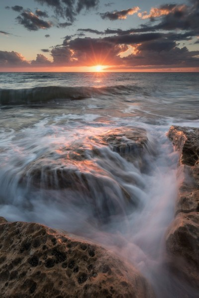 Sunset on the beach of Palo Laziale