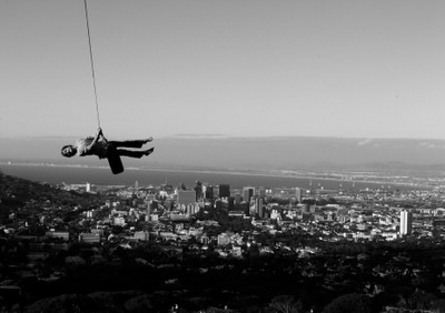 Flying in Cape Town
