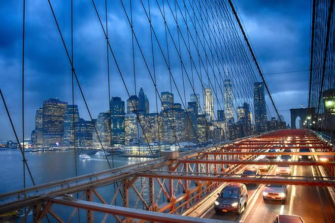Brooklyn Bridge looking towards the New York Skyline by jamesedmond - City Views Photo Contest