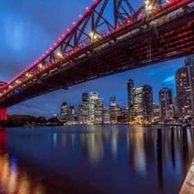Brisbanes iconic suspension bridge with a different view. Laowa 15mm.