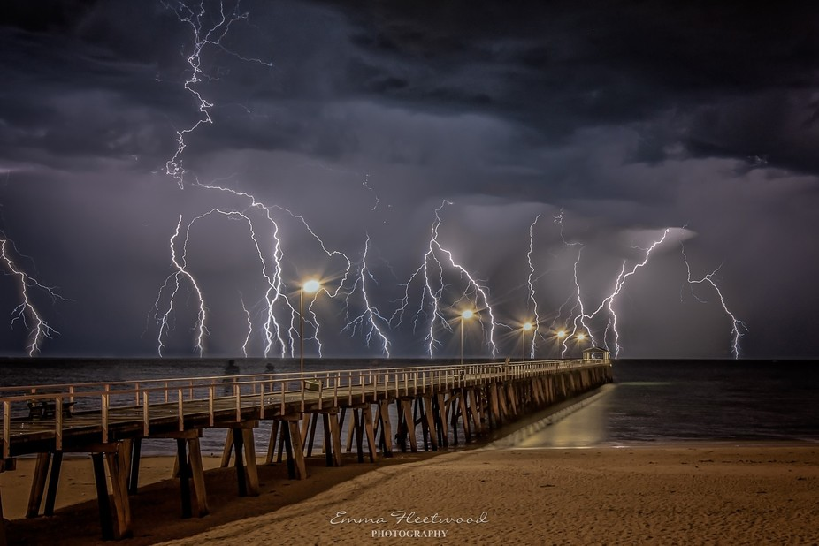 This thunderstorm hit Adelaide, South Australia shortly before midnight on 7th December 2016. I w...