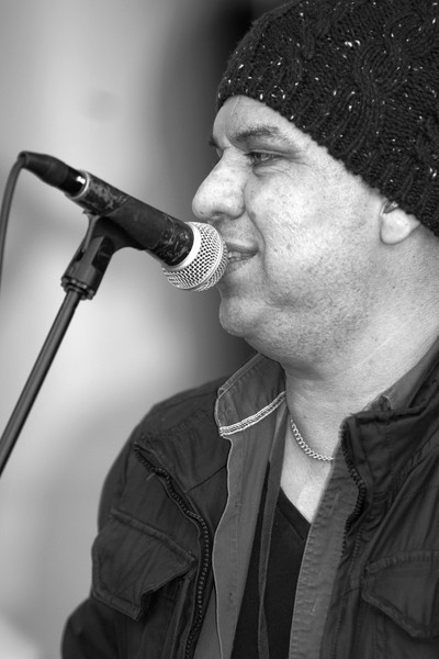 Street Performer black and white