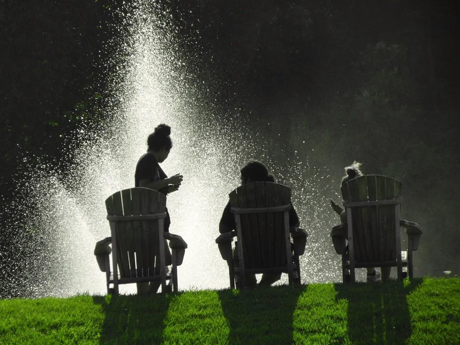 The fountain....