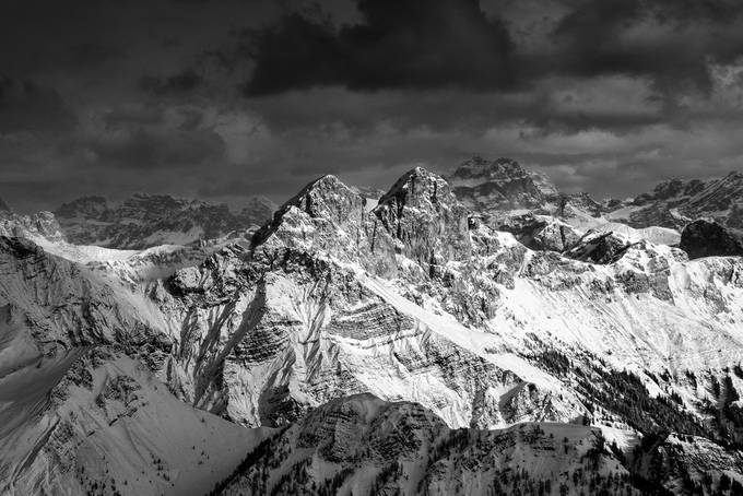 before storm by zenit - Black And White Mountain Peaks Photo Contest