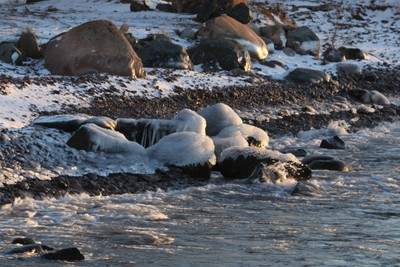 Ice on Rocks
