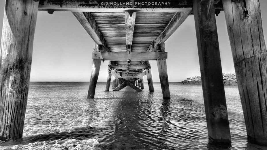 Enjoying some shade out of the sun under a local jetty on the York Peninsula, South Australia.