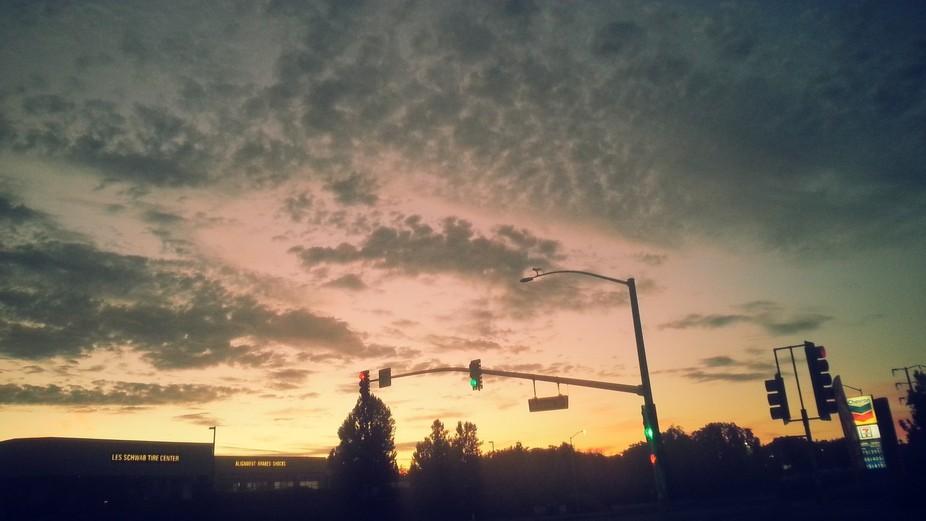 Beautiful Sunset in Fairfield Ca at Mason St