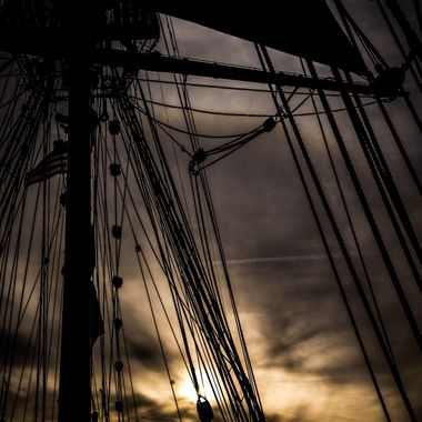 Ill Met By Moonlight - Lady Washington off Moss Landing in CCNM 20161123  #341 of 365