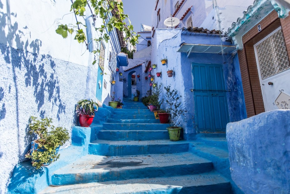 Streets, Chefchaouen, Morocco