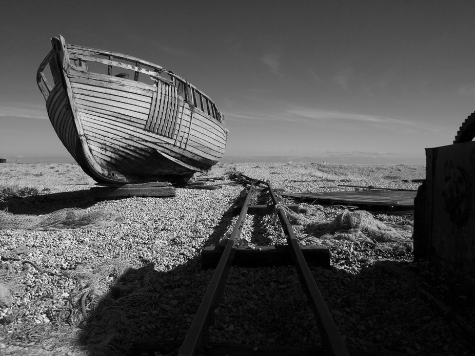 This image was taken in Dungeness, East Sussex. It is touted as Britains only desert, although ap...