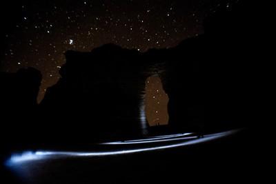 Light Trails at Monument Rocks