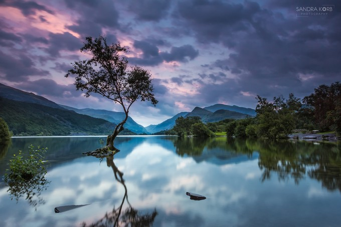 Llyn Padarn Sunset by sandrakorb - Unforgettable Landscapes Photo Contest by Zenfolio
