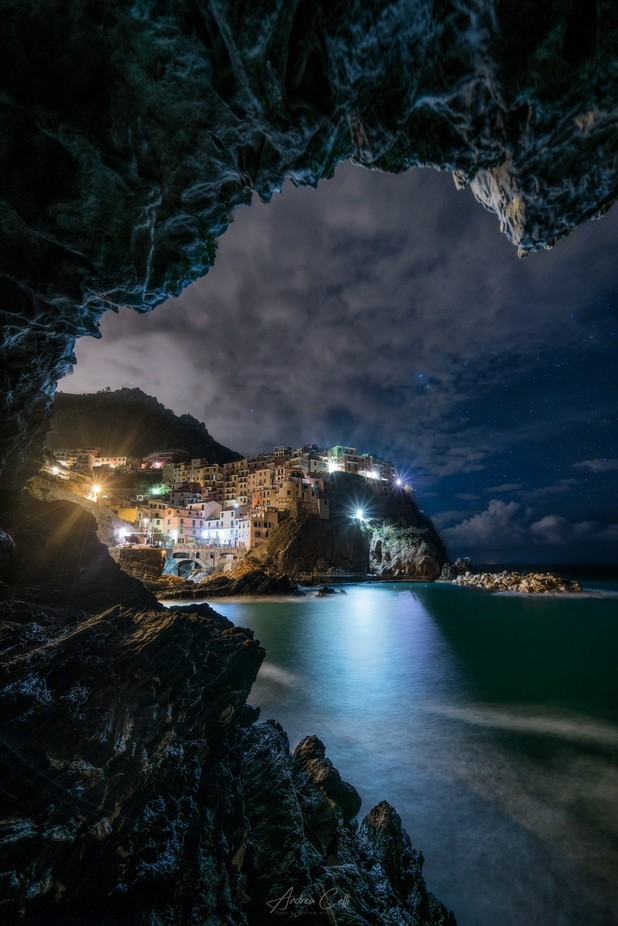 Manarola in a Frame by andreacelli - Blue Skies Photo Contest