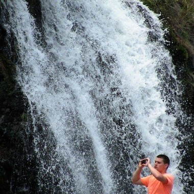 Taking Pictures of the Waterfall