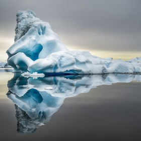 Plenneau bay on the Antarctica peninsula is commonly know as the Iceberg Graveyard as a current brings all the calved bergs into the bay and leav...