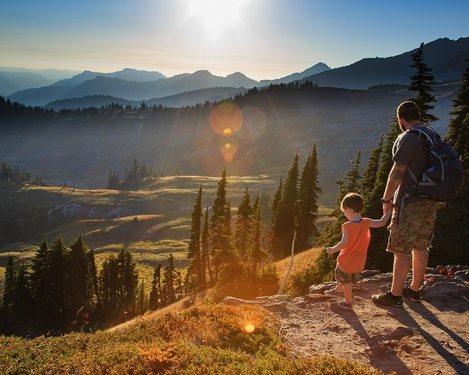 This is my Grandson and Son, discovering the View on Skyline Trail , Mt Rainier NP